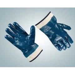 Перчатки нитриловые (крага полный облив)